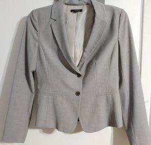 NWOT Ann Taylor Blazer Pants 2 Suit Gray 6 tall